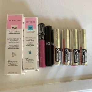 NIB Sephora lot of 2 moisturizers, 6 lip stains & glosses $120